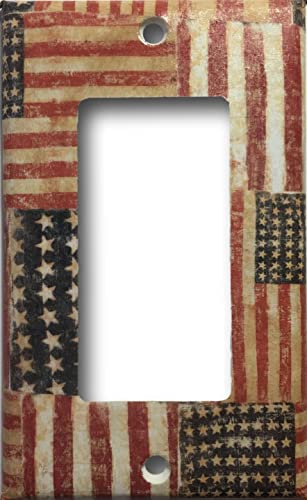 Rustic American Flag Country Americana Decor Decorative Light Switch Cover Wall Plate