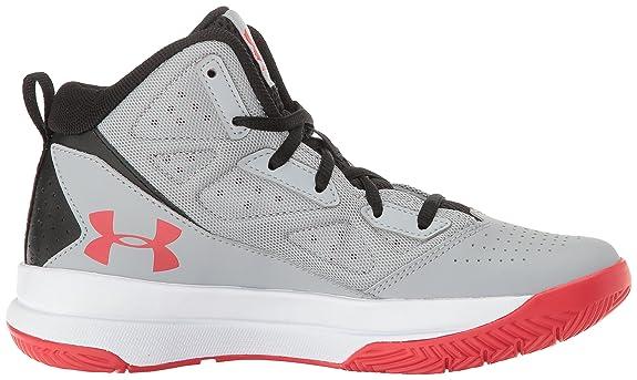 Amazon.com: Under Armour Mens Grade School Jet Mid Basketball Shoe Overcast Gray (941)/White 4.5: Shoes