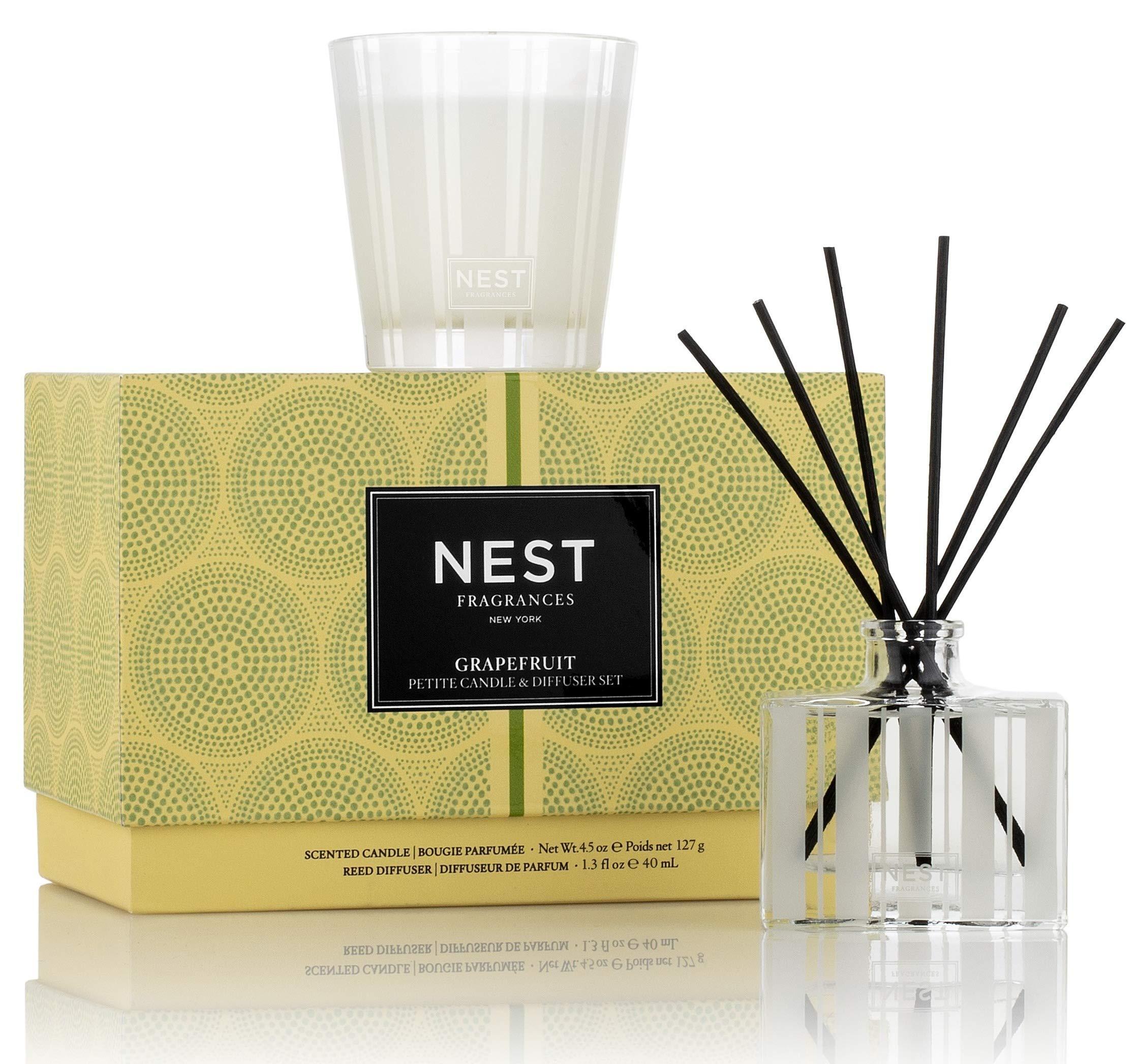 NEST Fragrances Grapefruit Petite Candle & Reed Diffuser Set by NEST Fragrances (Image #2)