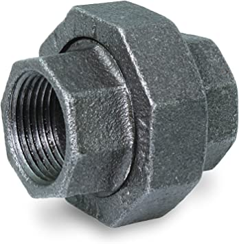 "BMLR0114 1-1//4/"" BLACK MALLEABLE IRON STRAIGHT LEFT//RIGHT COUPLING"