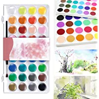 CoCocina 36 Surtido Colores Sólido Acuarela Artista Pintura Pigmento Caja Set