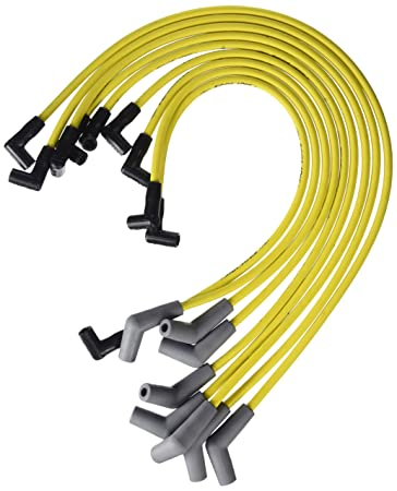 ford racing m12259y301 spark plug wire set, yellow 1989 ford 302 firing order rotary powered mustang ever built