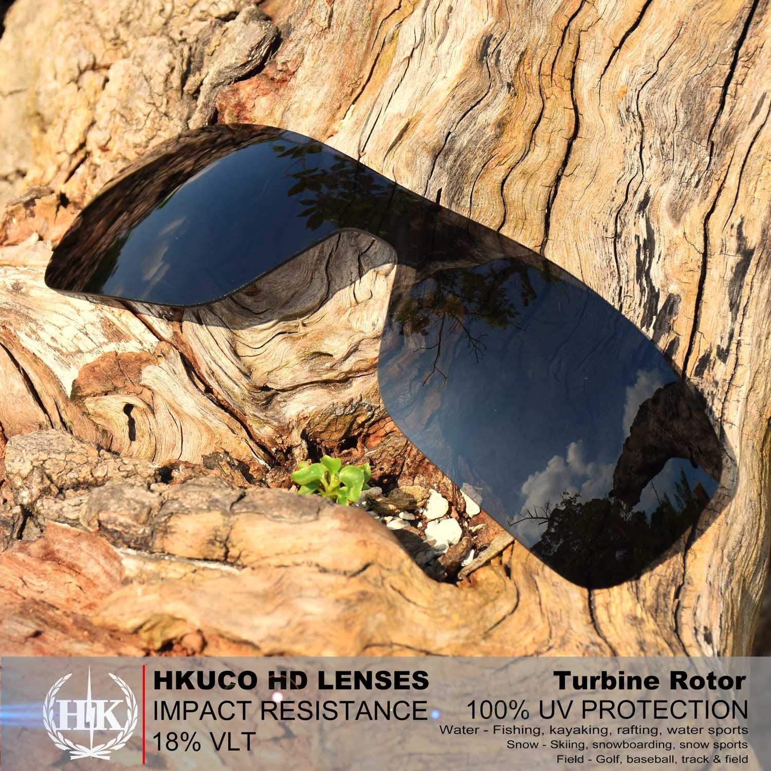 3d72dcf9b9a Amazon.com  HKUCO Mens Replacement Lenses for Oakley Turbine Rotor  Red Blue Black 24K Gold Emerald Green Sunglasses  Sports   Outdoors