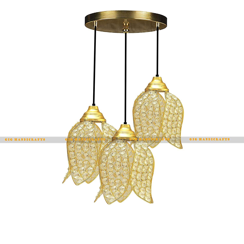 GiG Handicrafts Golden Crystal Hanging Light