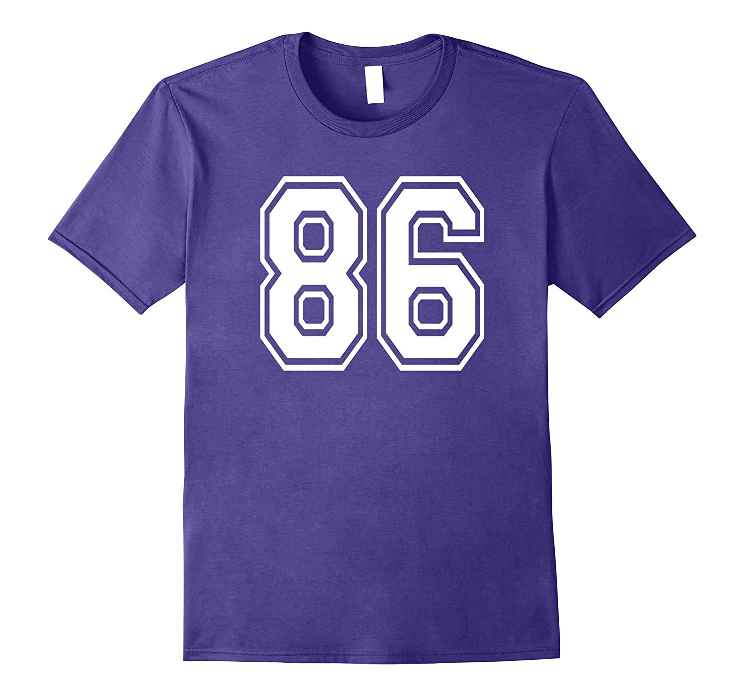 86 Sports Team School Numbers on Front T-Shirt Jersey-Vaci