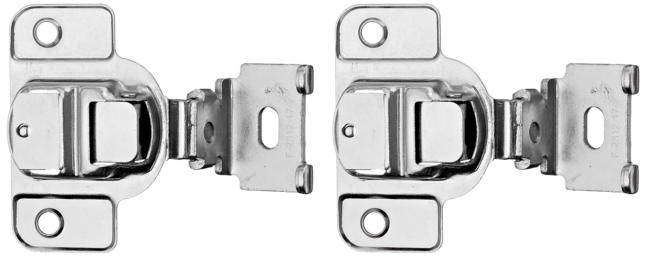 Amerock BP2811D1314 Matrix Concealed Hinge, 1-3/4in(45mm) Hole Pattern Hinge with 1-3/8in(35mm) Overlay - Nickel by Amerock (Image #1)