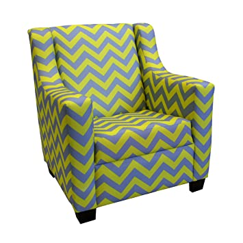 Newco Kids Baby Retro Chevron Chair, Yellow And Gray