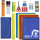 30 Piece School Supplies Kit for Elementary Kids – Back to School Essentials Bundle K-12 Supply Pack for Girls & Boys