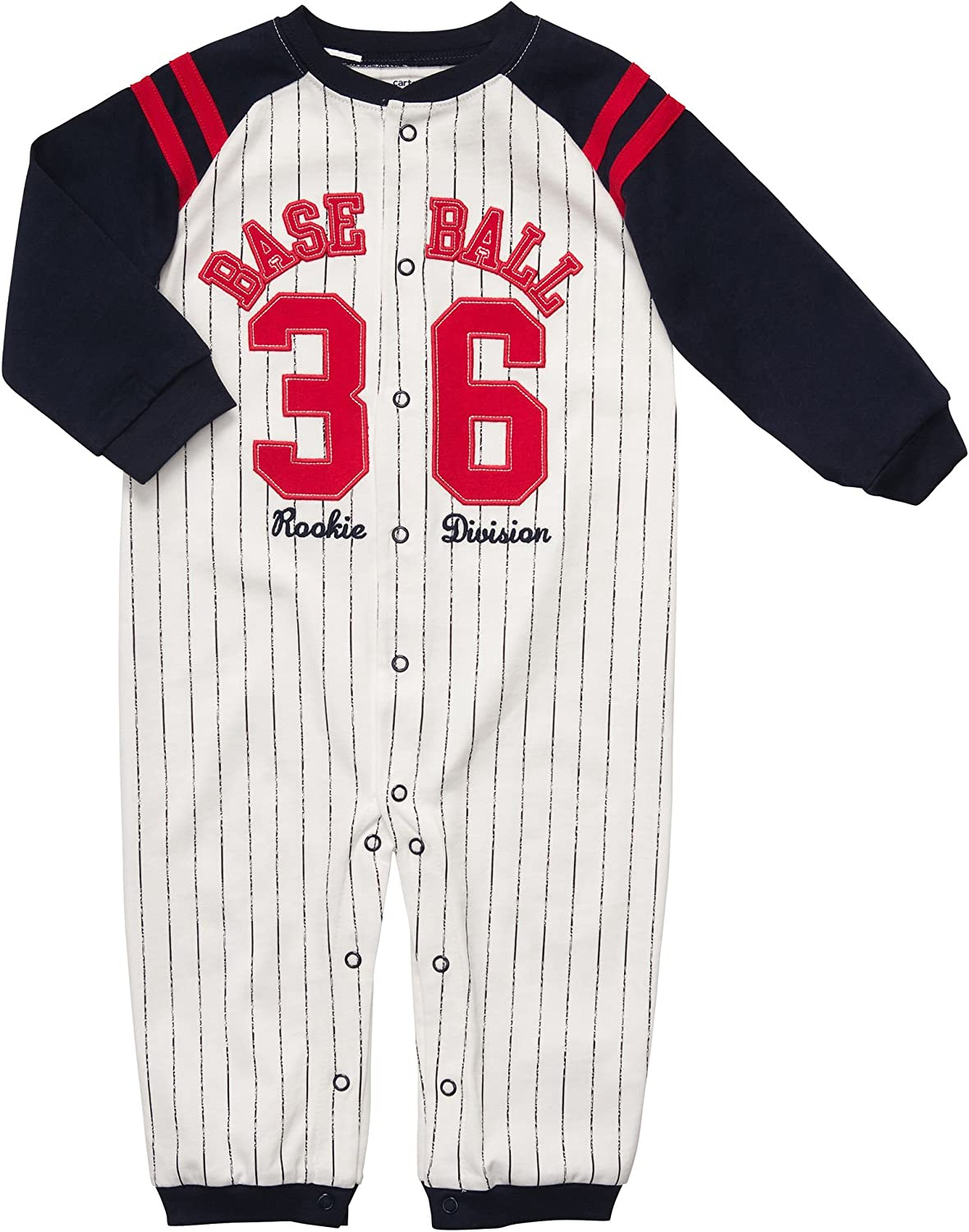 Carters Infant Boys Baseball Rookie Division Snap Front Coverall