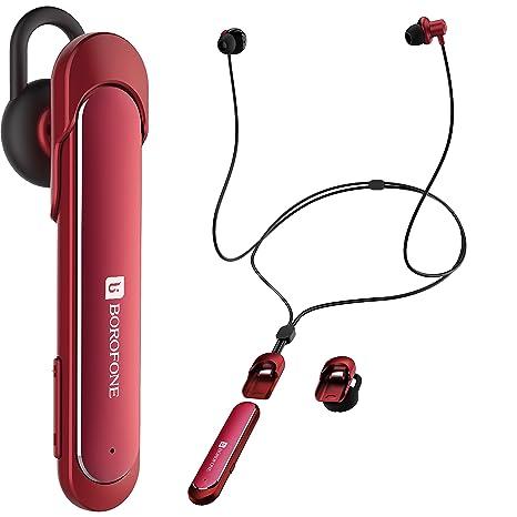Auriculares Bluetooth 4.1 para Gimnasio 2 en 1 Doble Uso Cambia Fácilmente al Auricular Manos Libres