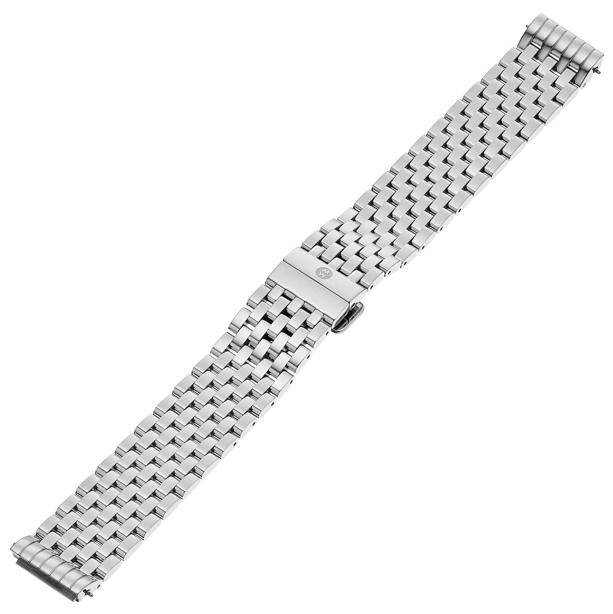 MICHELE MS18EL235009 Deco II 18mm Stainless Steel Silver-Tone Watch Bracelet