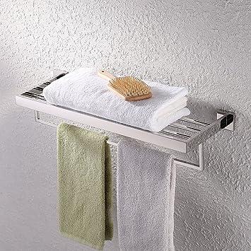 KES Towel Rack, With Towel Bar Bathroom Shelf Wall Mount 24 Inch Hotel  Style,