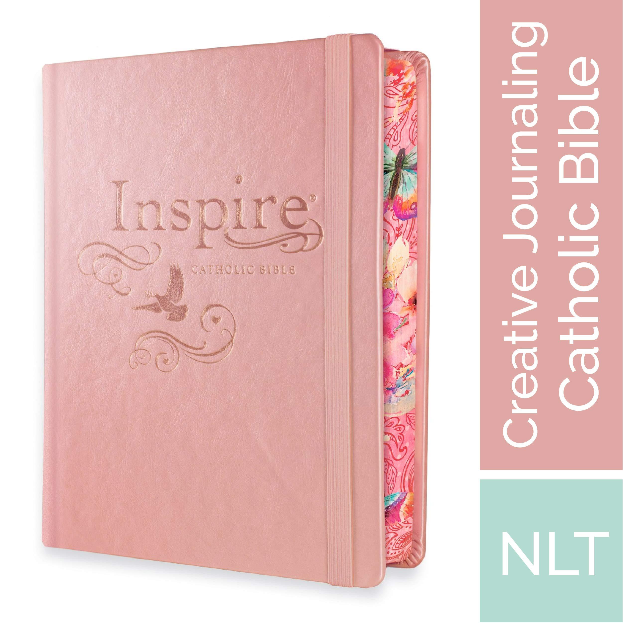 Tyndale NLT Inspire Catholic Bible (Hardcover, Rose Gold