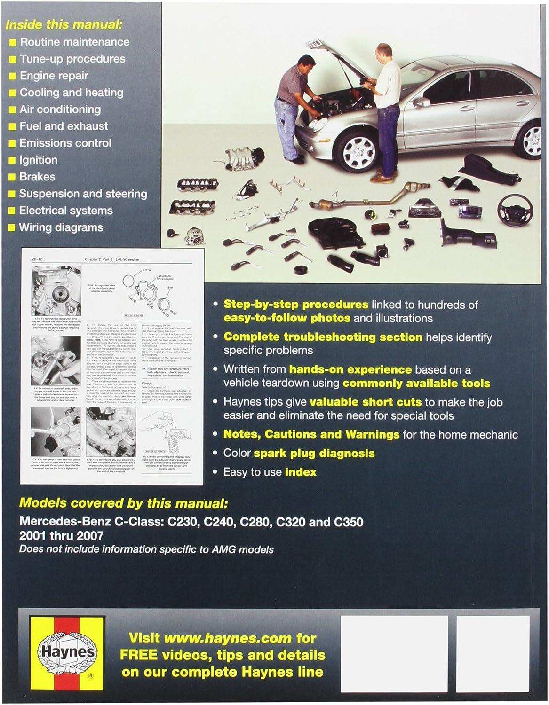 mb c320 wiring diagram amazon com haynes 63040 technical repair manual automotive  haynes 63040 technical repair manual
