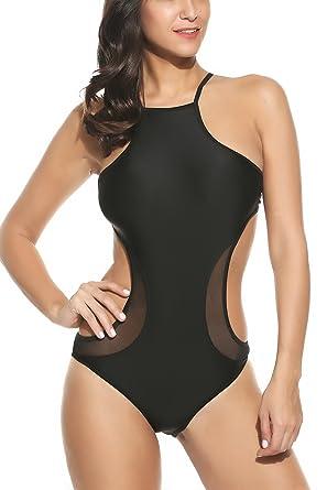 Avidlove Sexy High Waist Bathing Suit Cut Out One Piece Swimsuit For  Women Black Amazon com  Avidlove Women s Sexy One Piece Swimsuit High Waist  . Disability Bathing Suit. Home Design Ideas