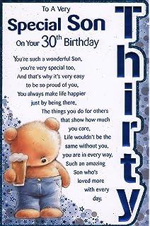 Sons 30th Birthday Card