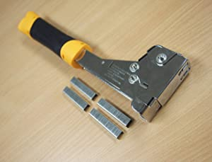 """Heavy Duty Hammer Tacker Stapler T50 6-14mm 1/4"""" to 9/16"""" with 200 Staples"""