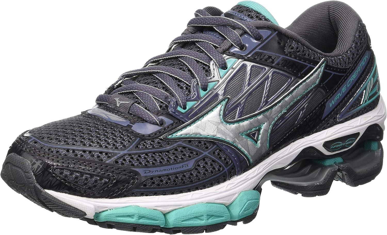 Mizuno Wave Creation 19, Zapatillas de Running para Mujer, Gris (Magnet/Silver/Turquoise 05), 42 EU: Amazon.es: Zapatos y complementos