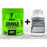 Iron Pump (30 Servings) & Testovox (60 Capsules) - High Performance Muscle Building Combination. Professional Strength Pre Workout Bodybuilding Supplement Stack (Raspberry Lemonade)