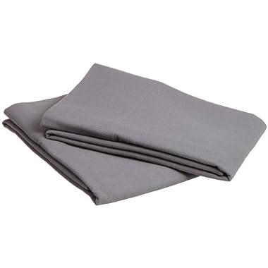 Pinzon Signature Cotton Heavyweight Velvet Flannel Pillow Cases - Standard, Graphite