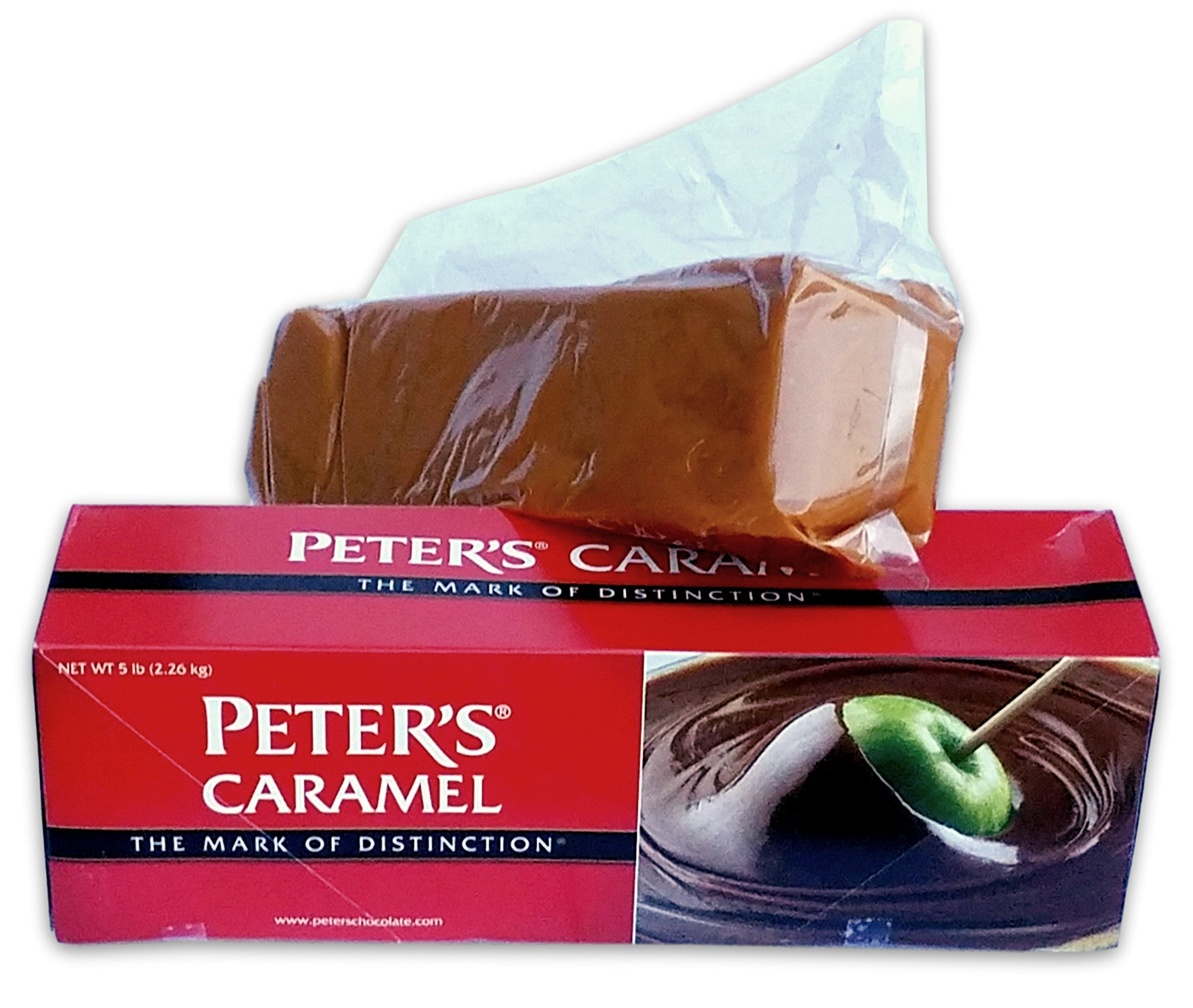 Peter's Creamy Caramel, Ideal to make Caramel Apples, or use on Ice Cream, 5 Lb. Block (Case of 6)
