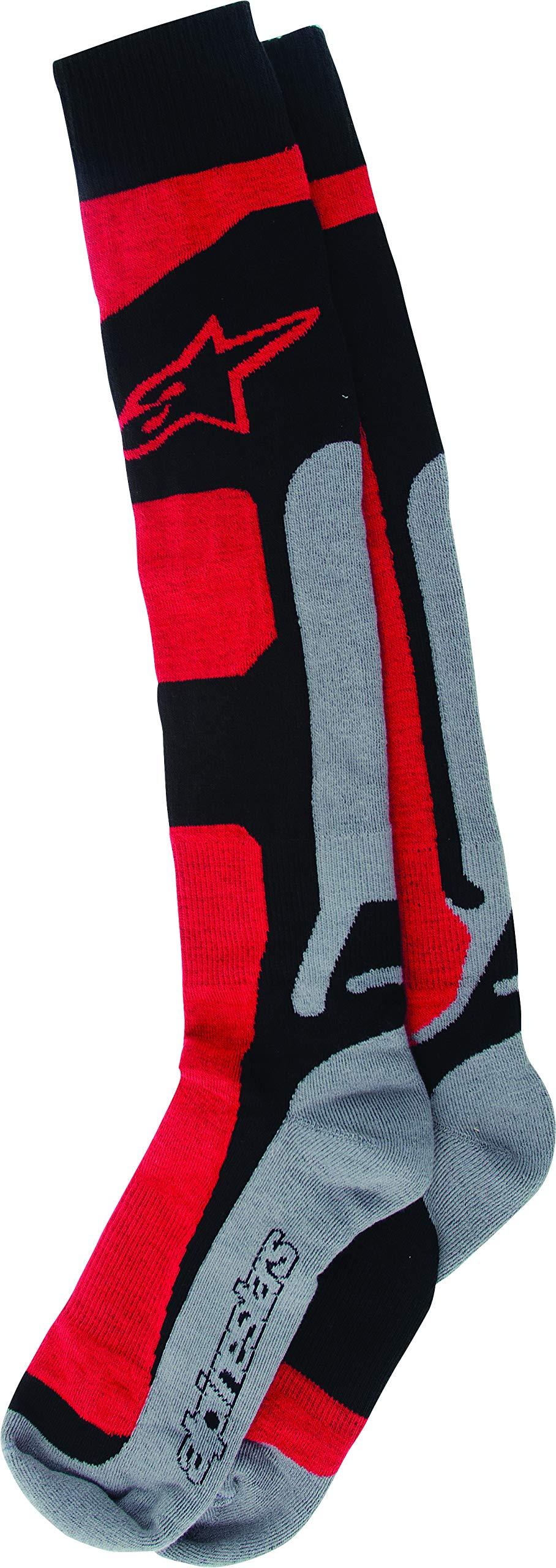 Alpinestars Men's 4702114-311-SM Sock (Coolmax) (Red, Small/Medium) by Alpinestars