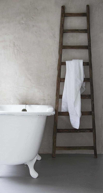 Solo Deko de escalera de madera, h195 cm, Vintage toallero perchero Madera de Teca: Amazon.es: Hogar