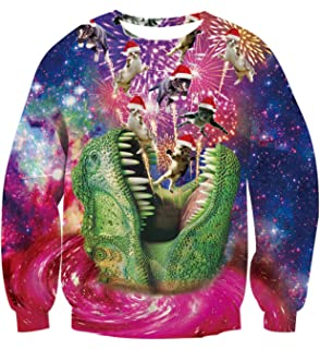 a72866baeed33 Ahegao Men Women Ugly Christmas Sweater 3D Printed Graphic Pullover Crew  Neck Funny Unisex Sweatshirts Party