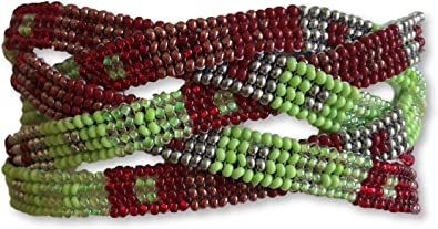 Guatemalan Handcrafted Red Beaded Bracelet