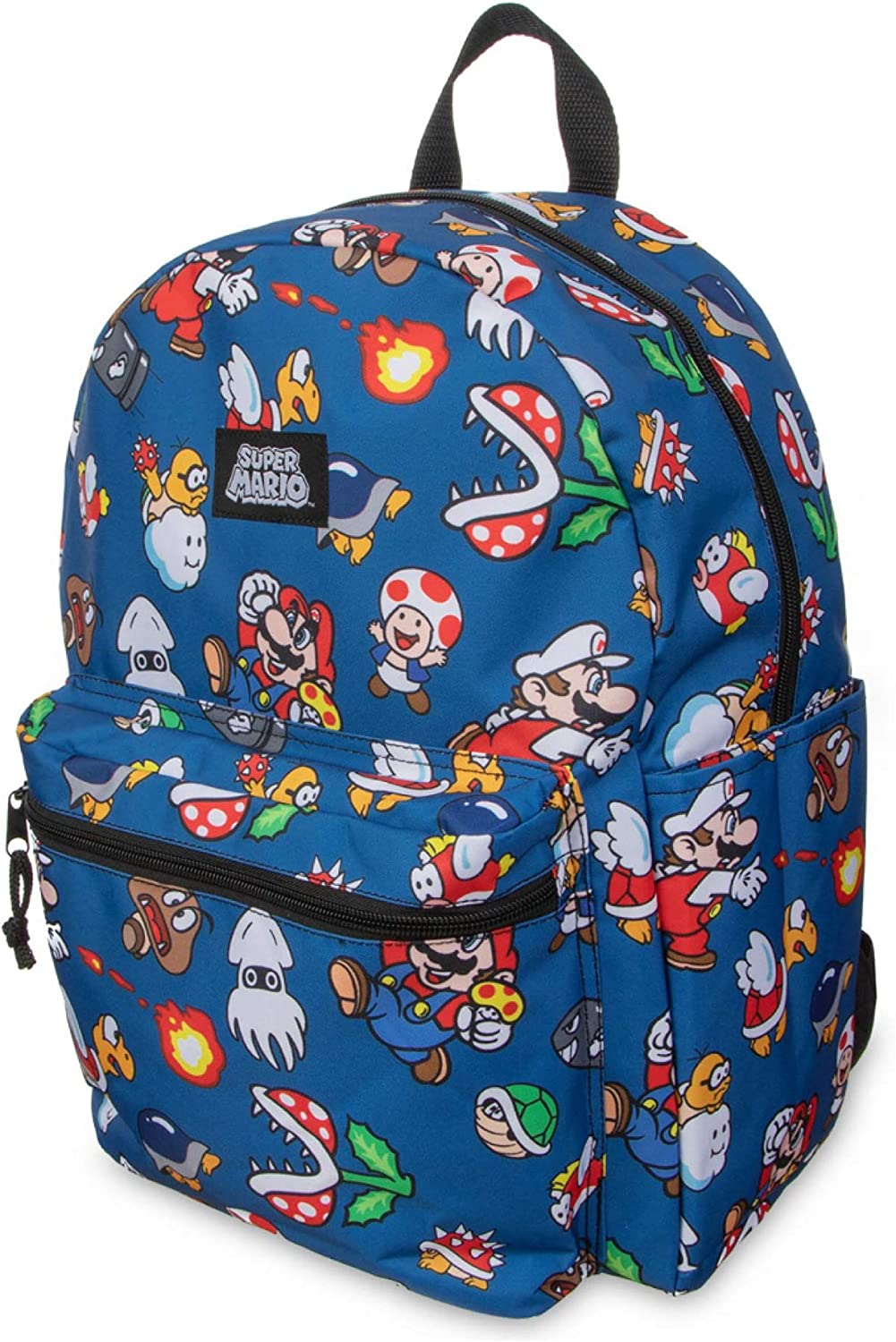 Details about  /SUPER MARIO BLACK CANVAS BACKPACK /& LUNCH-BAG NEW