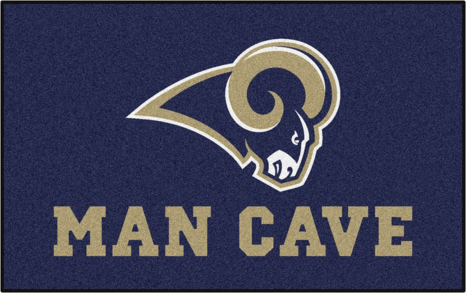 Los Angeles Rams Man Cave Ultimate Area Rug 5ft FANMATS 14374 NFL X 8ft.