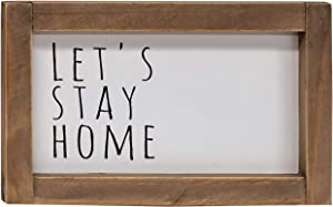 CWI Gifts Let's Stay Home Framed Sign, Multi