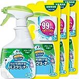 【まとめ買い】 スクラビングバブル 浴室・浴槽洗剤 カビも防げるバスクリーナー フローラルの香り 本体1本+つめかえ用3個セット 400ml+350ml×3個
