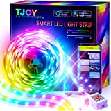 TJOY 25ft Smart Led Strip Lights for Bedroom, Alexa Led Light Strip,5050 RGB Color Changing Music Sync Led Lights Strip with