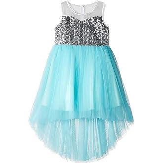 cc4837803f36 #4 Sunny Fashion Girls Dress Sequin Mesh Party Wedding Princess Tulle