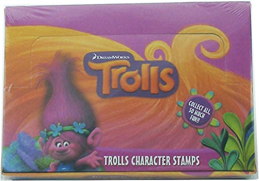 Amazon.com: 24 trols Dreamworks Authentic oficial Stampers ...