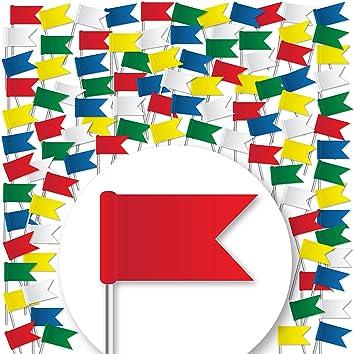 Pinnwände Büro & Schreibwaren Brillant Markierungsfahnen Pinnadeln Fahne Pins Für Pinnwand Markierungsfähnchen Flagge