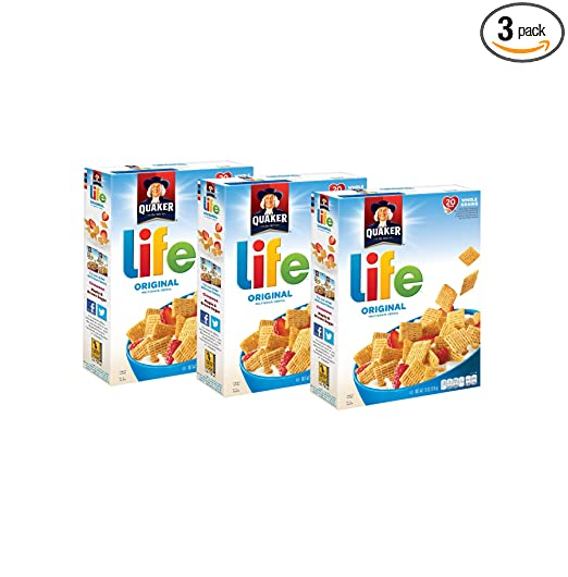 Quaker Life Original Cereal, 13 oz Boxes, 3 Count