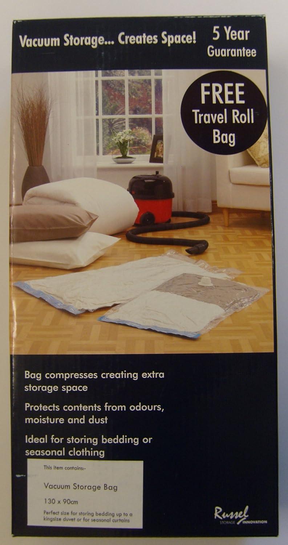 Vacuum Storage Bag Extra Large 130cm x 90cm Holds king Size Duvet Russel