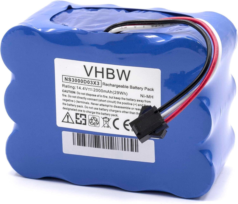 vhbw NiMH batterie 2000mAh (14.4V) pour robot aspirateur