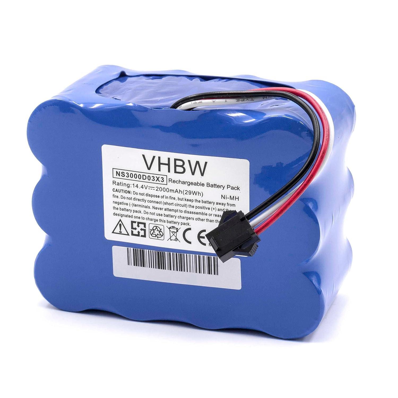 vhbw NiMH batteria 3500mAh (14.4V) per robot aspirapolvere home cleaner Samba XR210C