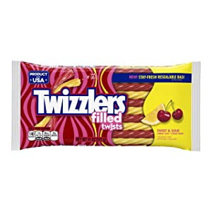 TWIZZLERS Sweet and Sour Filled Twists in Cherry and Citrus Punch Flavors (11-Ounce Bag)