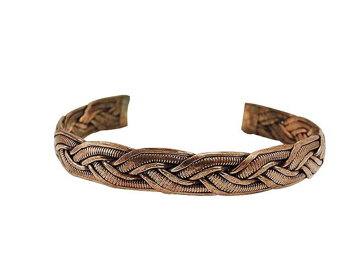 Amazon.com: pulsera de Cobre de Nepal, hecha a mano: Jewelry