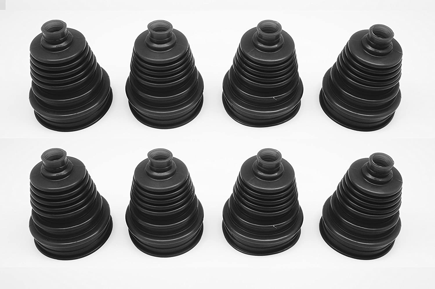 Black Autobahn88 Universal Silicone Constant Velocity CV Joint Boot Replacement Kit with Zip Ties Pack of 8 Pieces