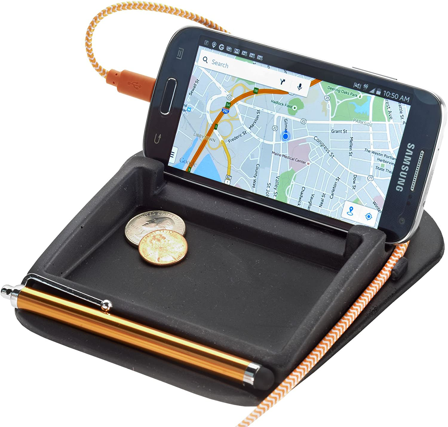 High Road StashCache Car Coin Holder and Phone Stand