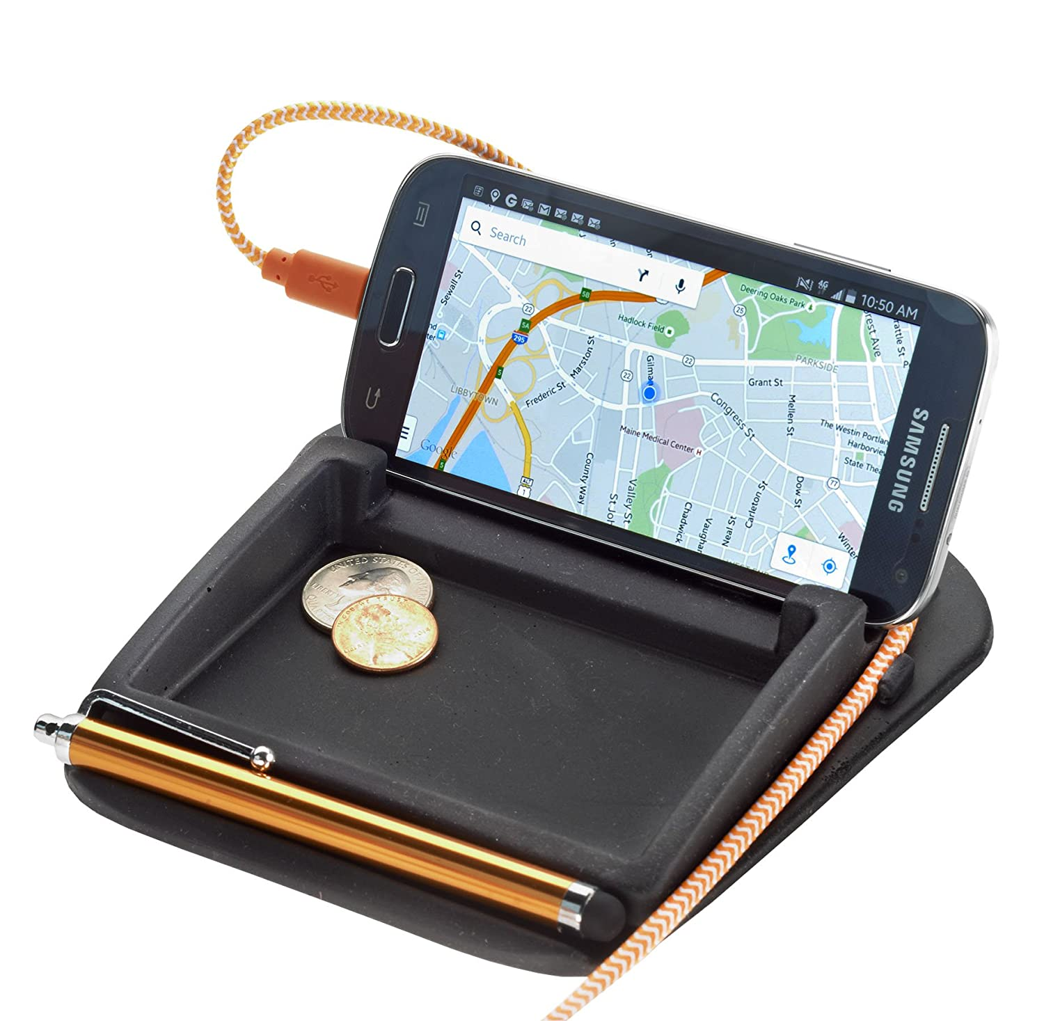 High Road StashCache Car Coin Holder and Phone Stand High Road Organizers HR