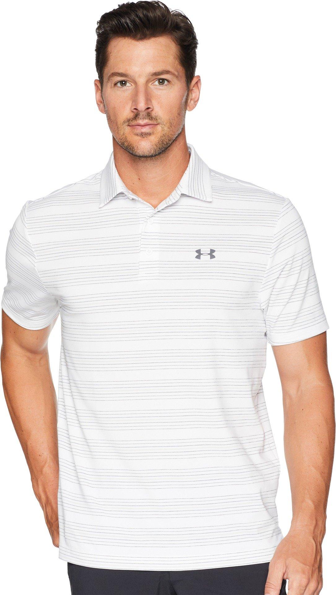 Under Armour Golf Men's UA Playoff Polo White/White/Rhino Gray XX-Large