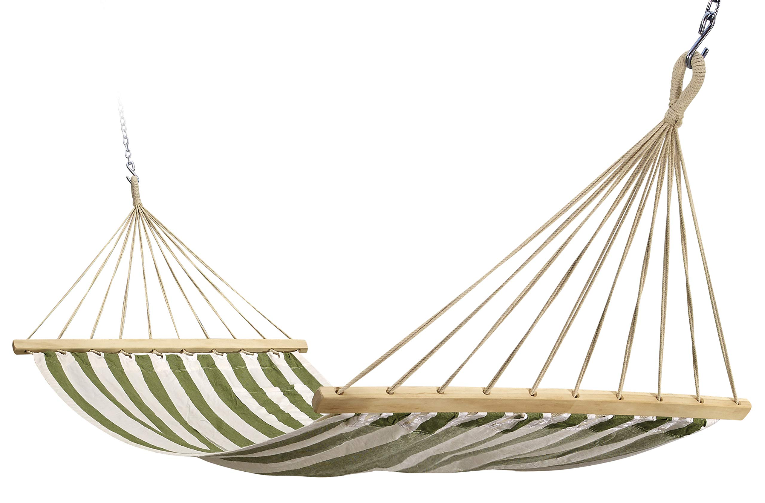 Hygge - Single Fabric Hammock with Stripes Made with 100% Cotton Comes with a Magazine Holder and Hardwood Spreader bar. Perfect for Your Garden and Patio! - Our hammock is made from 100% natural cotton, the hammock provides extreme comfort and the number of suspension contributes to the durability of this product. This hammock is yarn-dyed fabric. This hammock comes with a magazine/ iPad holder and a multi-purpose co-ordinated fabric bag that can be used as a bag-pack as well. Dimensions: Bed Width: 48 inches; Bed Length: 78 inches; Overall Length: 132 inches Maximum carry capacity is 450 pounds. - patio-furniture, patio, hammocks - 81DsWgWEw2L -