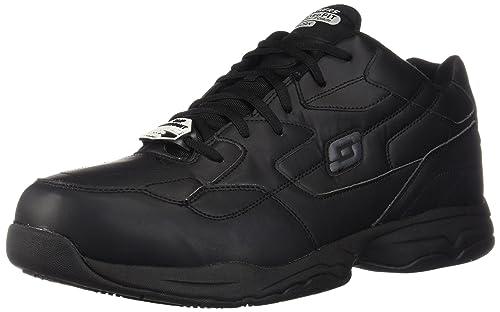 Amazon.com   Skechers for Work Men s Felton Slip Resistant Relaxed ... ee9f4a36344