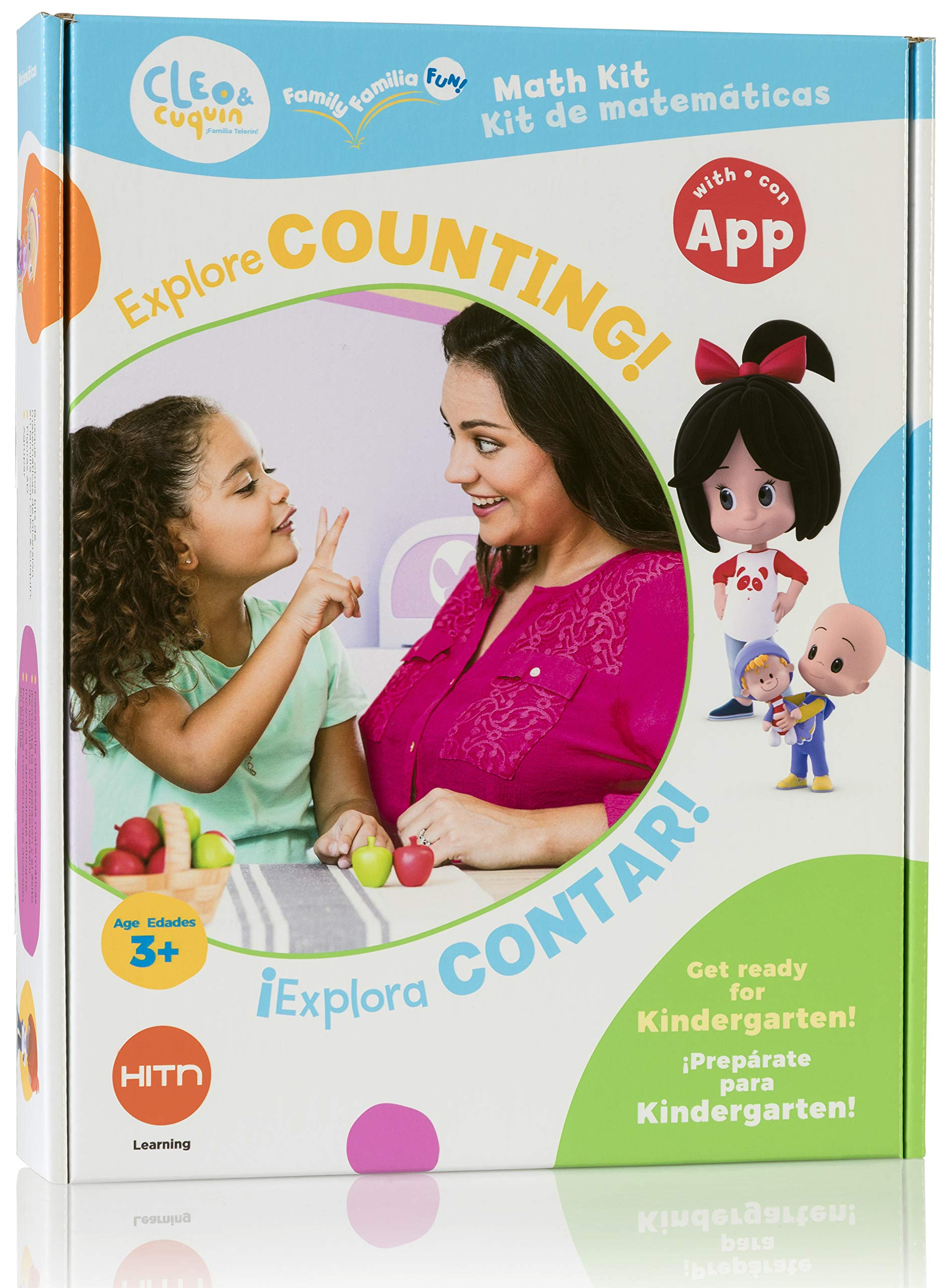 CLEO & cuquin Family Fun! Counting Math Kit and App: Spanish/English Education, Ages 3-5, Kindergarten Readiness by CLEO & cuquin